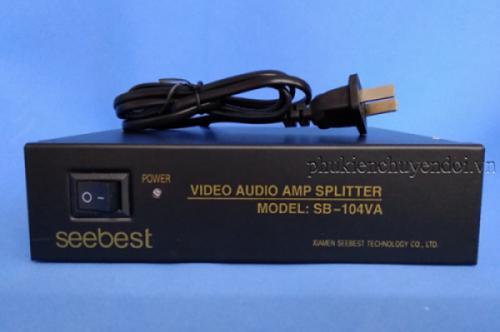 Bộ chia AV 1 ra 4 Seebest SB-104VA