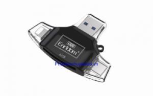Đầu đọc thẻ 4 trong 1 (Lightning, Type-C, Micro USB, USB) cho thẻ nhớ SD, Micro SD Earldom ET-OT31