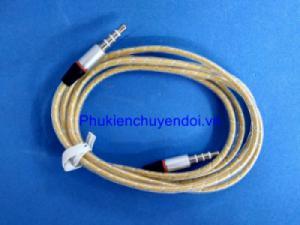 Cáp âm thanh 2 đầu 3.5mm 4 khấc (3 vạch) chất lượng cao