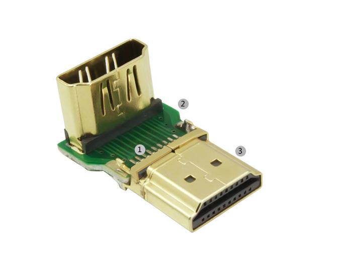 Đầu nối HDMI vuông góc 90 độ chính hãng Ugreen 20109 (bẻ xuống)