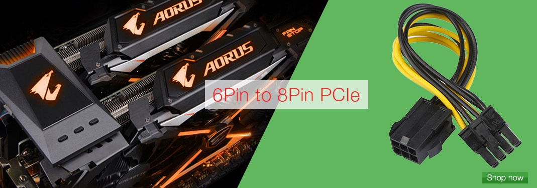 6pin pcie to 8pin pcie
