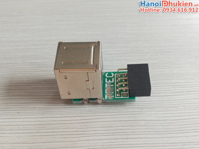 Adapter 9pin Mainboard to 2 USB 2.0 Female header
