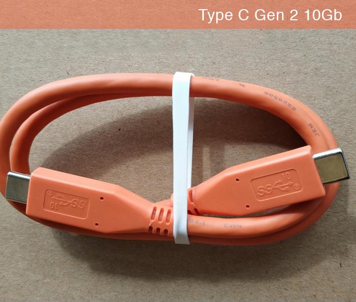 Cáp Type C to Type C Gen 2 10Gb hai đầu đực dài 0.5M