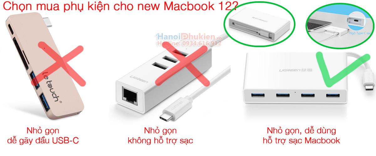 Kinh nghiệm chọn mua phụ kiện cho người mới mua Apple New Macbook 12