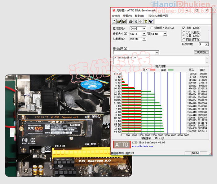 Riser Card M2 MVMe 2280 to PCIe 4X Adapter