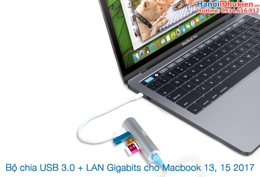 Bộ chia USB 3.0, LAN gigabits bạn nên mua cho Macbook Pro 2017