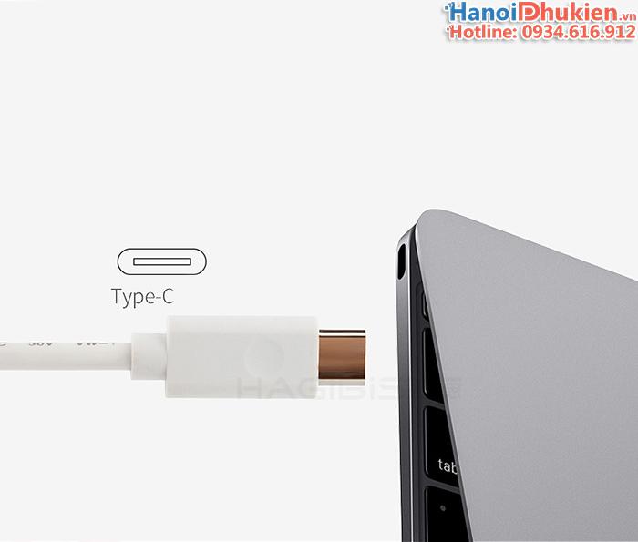 Bộ chia USB Type C 1 ra 4 vỏ nhôm Hagibis chính hãng cho new Macbook, Laptop