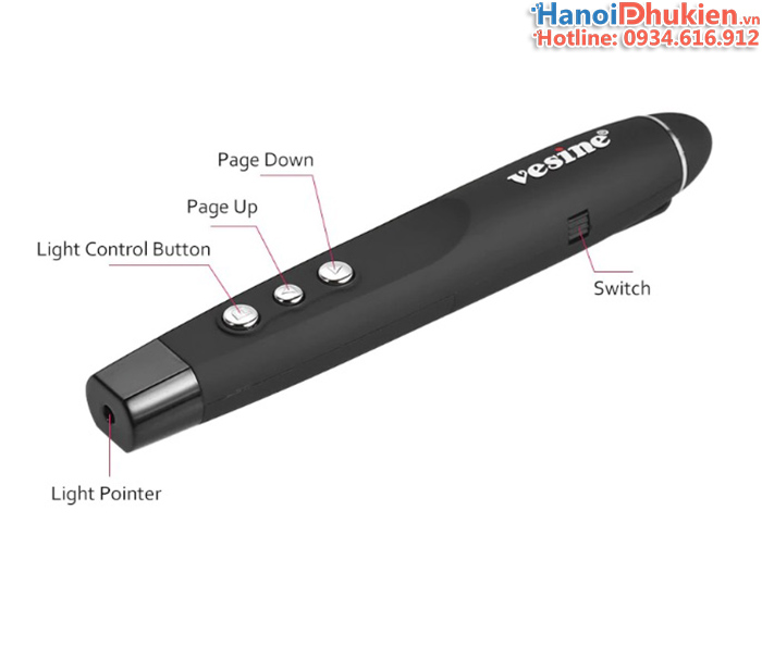 Bút trình chiếu laser, bút chỉ slide chính hãng Vesine VP101