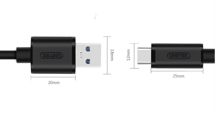 cap usb type to usb 3.0 unitek y-c474bk