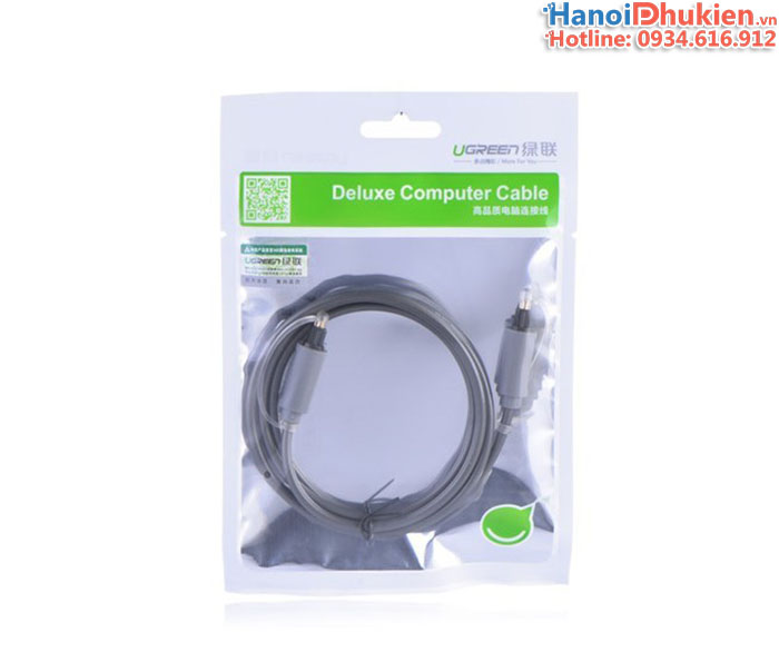 Cáp audio quang 2M, 3M Ugreen 10770, 10771 (Optical Toslink Cable)