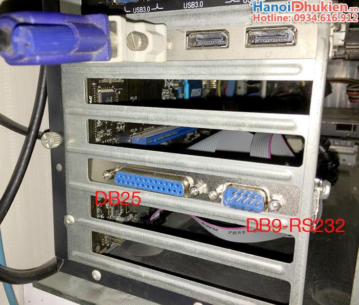 Cáp chuyển đổi COM 9Pin, LPT trên Mainboard ra khe PCI