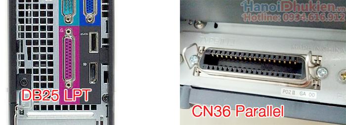 Cáp máy in DB25 sang CN36 Parallel