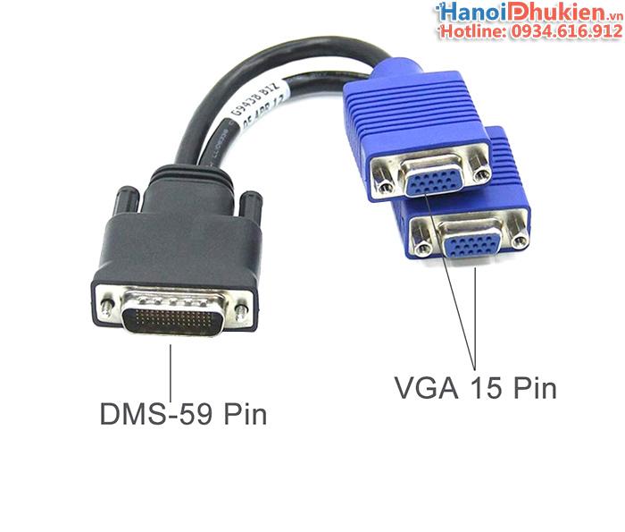 Cáp DMS59 DVI sang 2 cổng VGA female