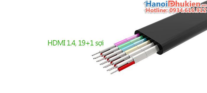 Cáp HDMI 1.4 dẹt Ugreen