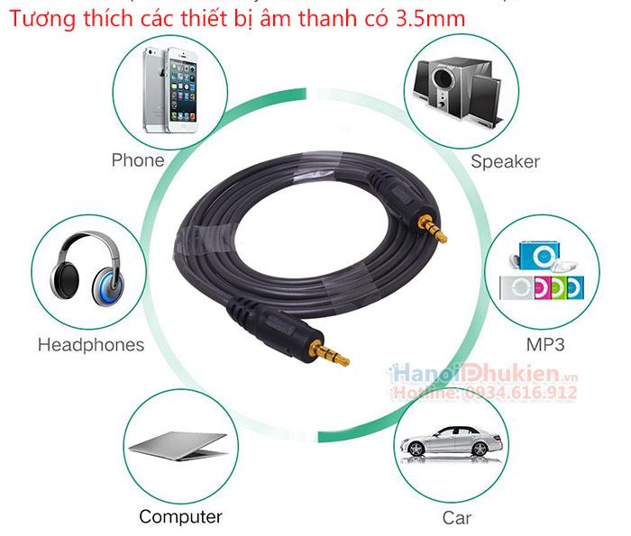 Cáp âm thanh 3.5mm hai đầu đực 5M, 10m, 15m Dtech