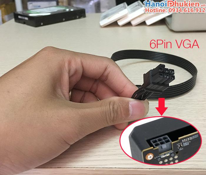 Cáp nối nguồn 8Pin PSU Modular sang 6Pin PCIe Card VGA