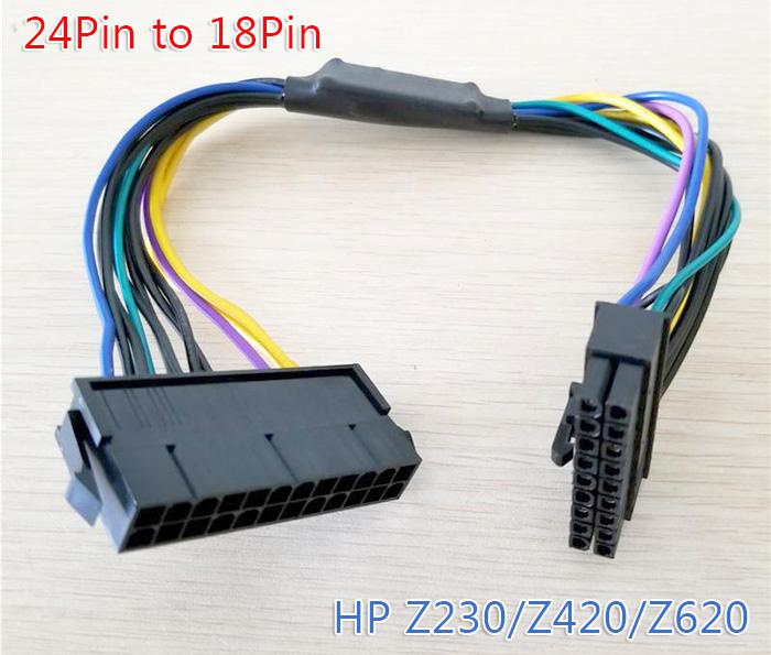 Cáp nguồn ATX 24Pin to 18Pin cho HP Z230/Z420/Z620