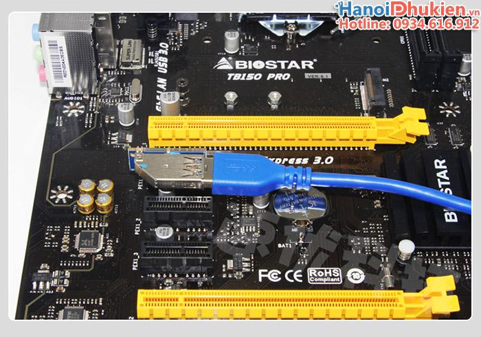 Dây cáp Riser PCI-e 1X USB 3.0 nối dài 60cm