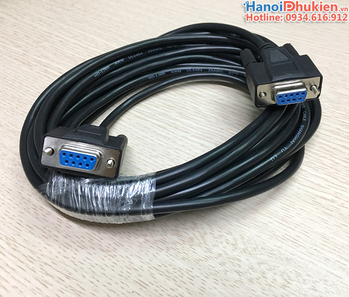 Cáp RS232C Null modem female to female 5m