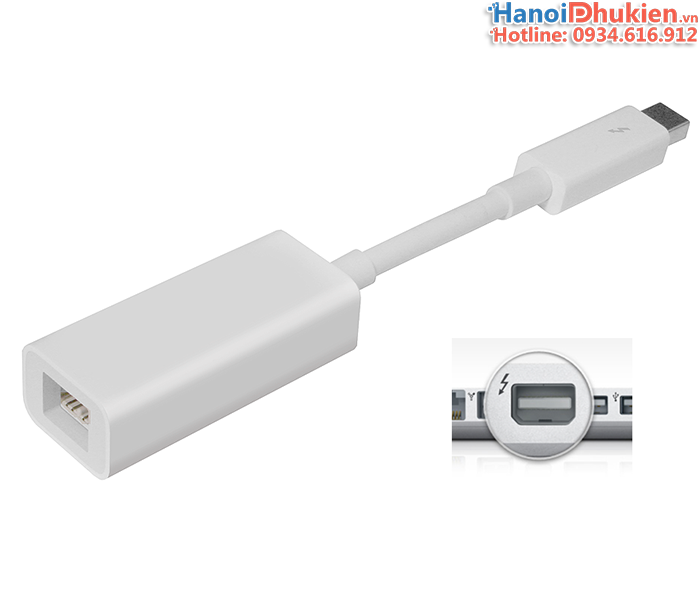 Cáp chuyển đổi Apple Thunderbolt to Firewire 800 1394B chính hãng
