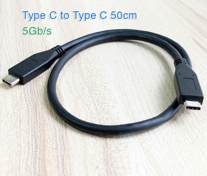 Cáp USB 3.1 Type C to Type C hai đầu đực dài 0.5M
