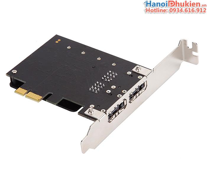 Card chuyển đổi PCI-E 1X sang 2 cổng SATA 3, eSATA