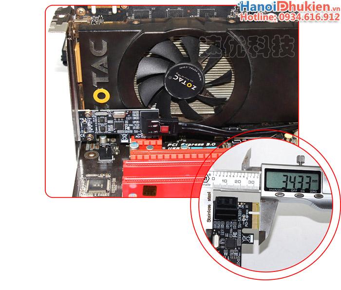 Card chuyển đổi PCI-E 1X sang 2 SATA III chipset ASM1061 SSU SA3001