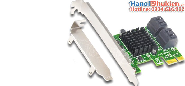 Card chuyển đổi PCI-E 1X sang 4 SATA III chipset ASM1061