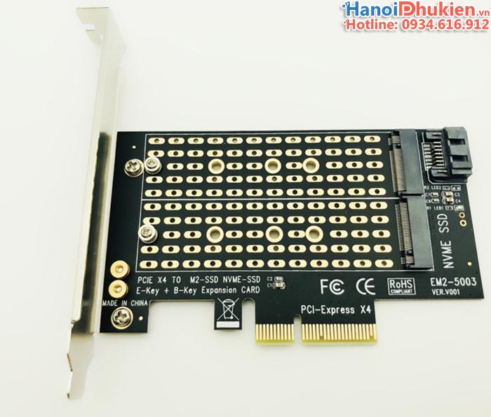 Card gắn ổ cứng M2 SATA, M2 NVMe vào máy tính bàn PC