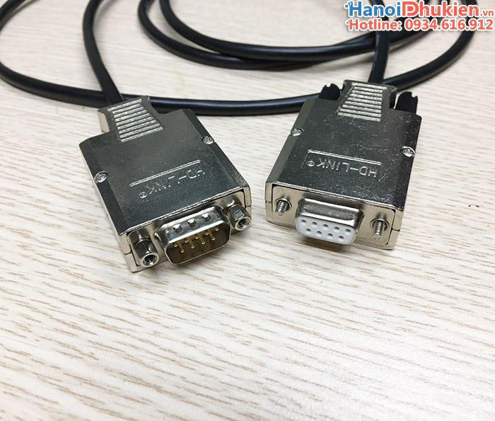 Đầu bấm COM DB9 Male HD-Link vỏ ốp kim loại