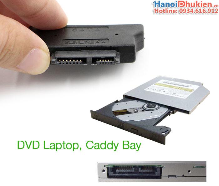 Đầu chuyển đổi SATA sang Slim SATA 7+6 (chân nhỏ) CD/DVD Laptop