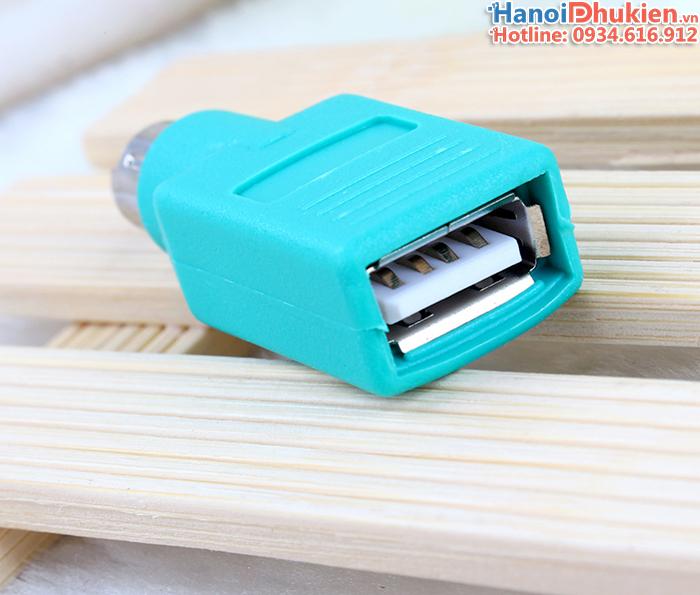 Đầu giắc chuyển đổi USB sang PS2 dùng cho chuột USB máy tính