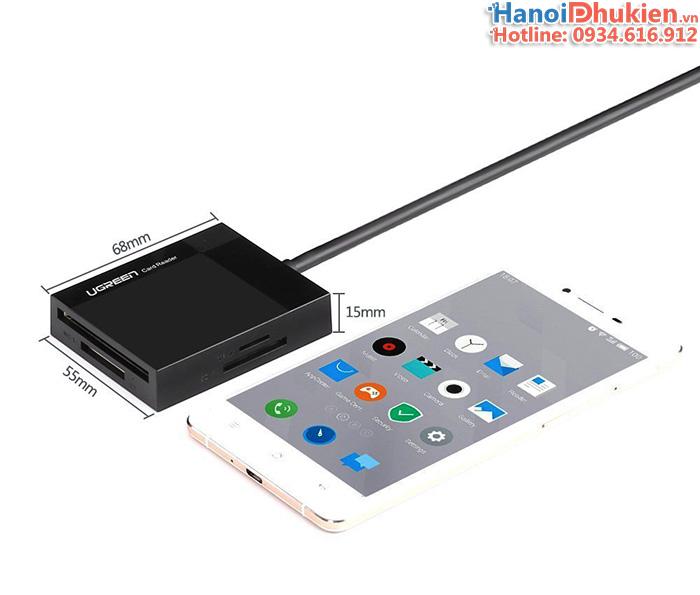 Đầu đọc thẻ USB 3.0 đa năng CF, SD, TF, MS 4 trong 1 Ugreen 30333 cáp dài 0.5M