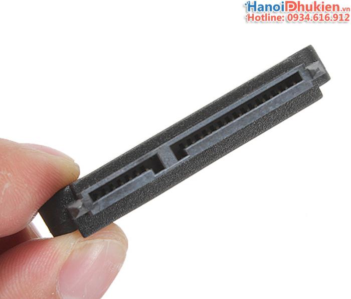 Đầu nối ổ cứng HDD, SSD SATA đầu đực - đầu cái 22pin (7+15)