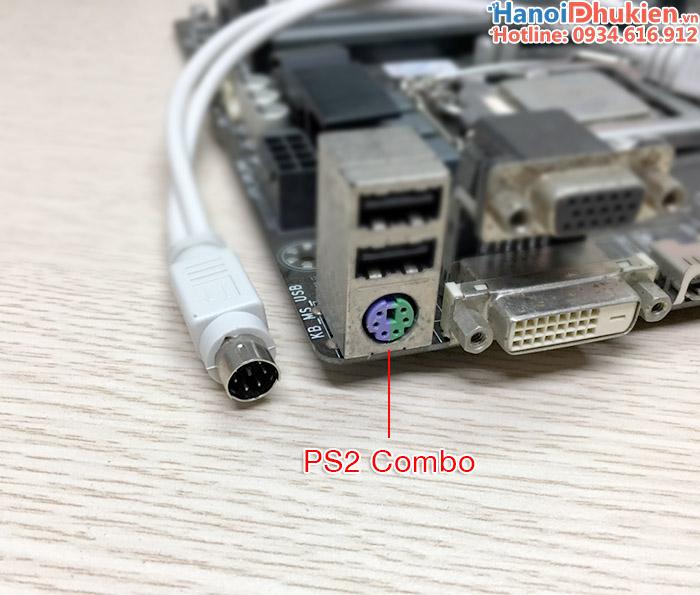cáp chia PS2 1 ra 2 cho chuột, bàn phím