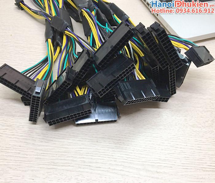 cáp chuyển nguồn 24pin cái sang 8pin đực cho máy đồng bộ DELL