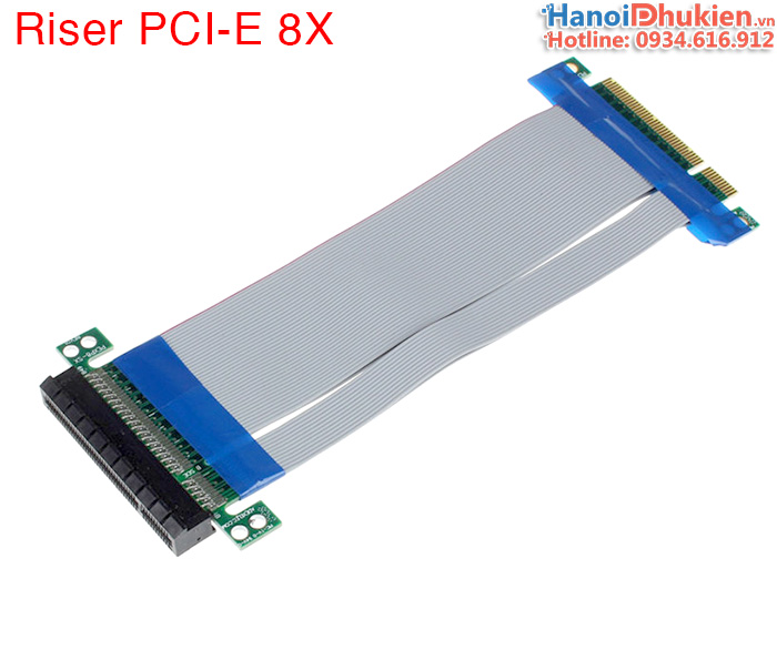 PCI-E Express 8X Riser Card Extender Extension Flexible Cord Ribbon Cable