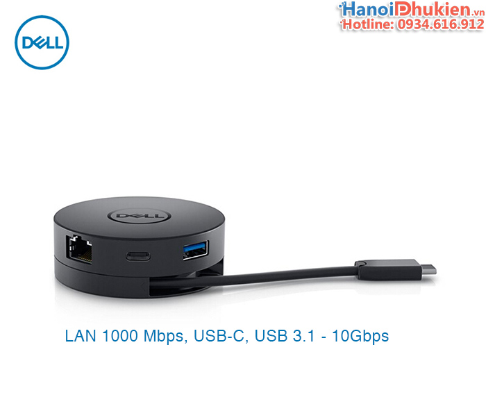 DELL DA300 USB-C Mobile Adapter 6 in 1 HDMI, VGA, DP, LAN, USB 3.1, USB-C