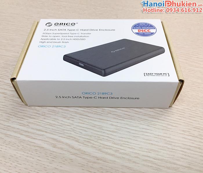 Hộp đựng ổ cứng Type-C Orico 2189C3