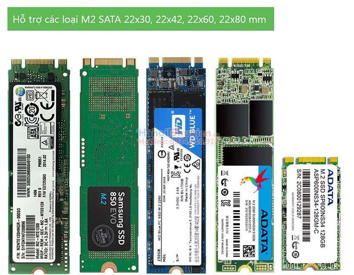Box chuyển đổi mSATA to SATA 2.5, M2 SATA sang USB 3.0, SSD mSATA sang USB 3.0