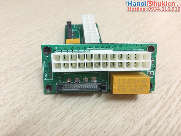 Đầu nối 2 nguồn ATX 24pin máy tính