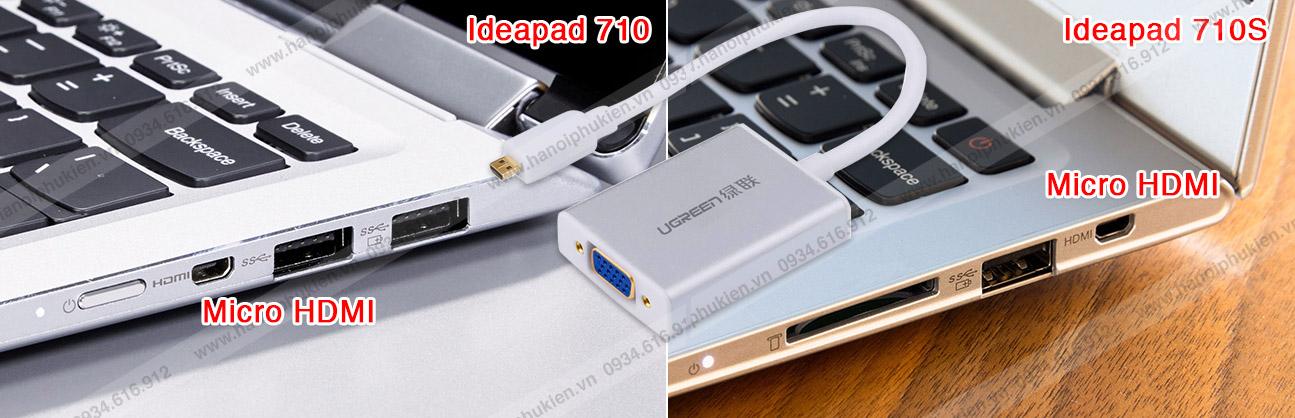 Cáp kết nối Lenovo Ideapad 710, 710S ra máy chiếu, Tivi cổng VGA, HDMI