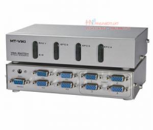 Bộ chia màn hình VGA 4 ra 4 MT-404C hỗ trợ cáp VGA 45M