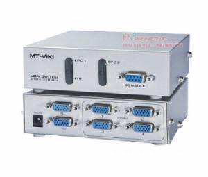Bộ chia màn hình VGA 2 ra 4 MT-204C hỗ trợ cáp VGA 45M