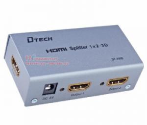 Bộ chia HDMI 1.4 1 ra 2 Dtech DT-7006. Hỗ trợ 3D, FullHD1080P