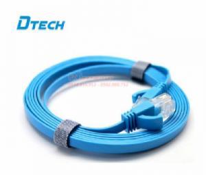 Cáp mạng dẹt 1.8m CAT6 Gigabit Dtech DT-67F18 chính hãng