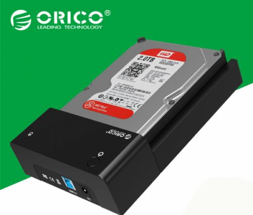 HDD Docking 3.5, 2.5 inches SATA Orico 6518US3. Hỗ trợ ổ cứng HDD, SSD 4TB