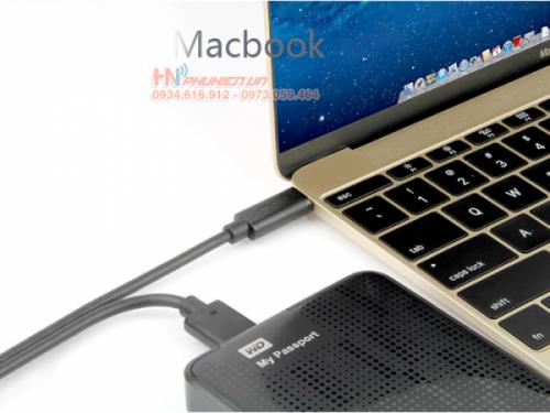Kết nối macbook 12 với ổ cứng cắm ngoài