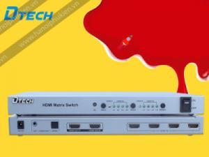 Bộ chia HDMI ma trận 4x2 Dtech DT-7029 có điều khiển