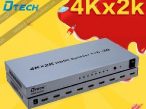 Bộ chia HDMI 1 ra 8 4Kx2K, 3D Dtech DT-7148